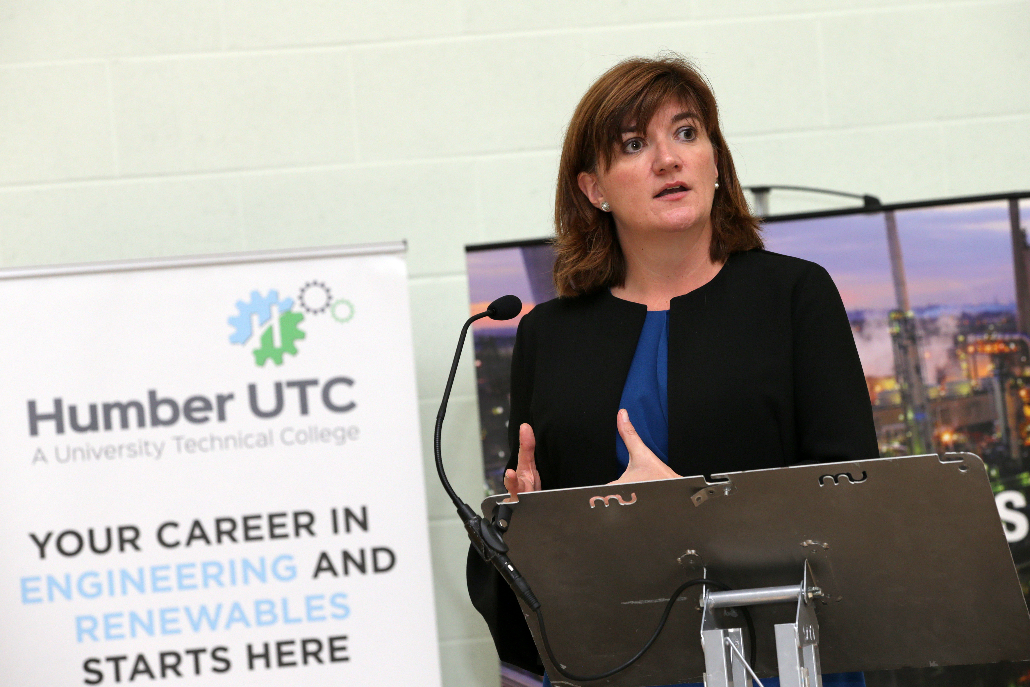 Humber UTC is visited by Rt. Hon Nicky Morgan MP