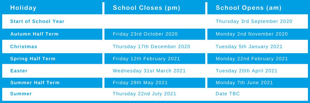 2020-21 Term Dates